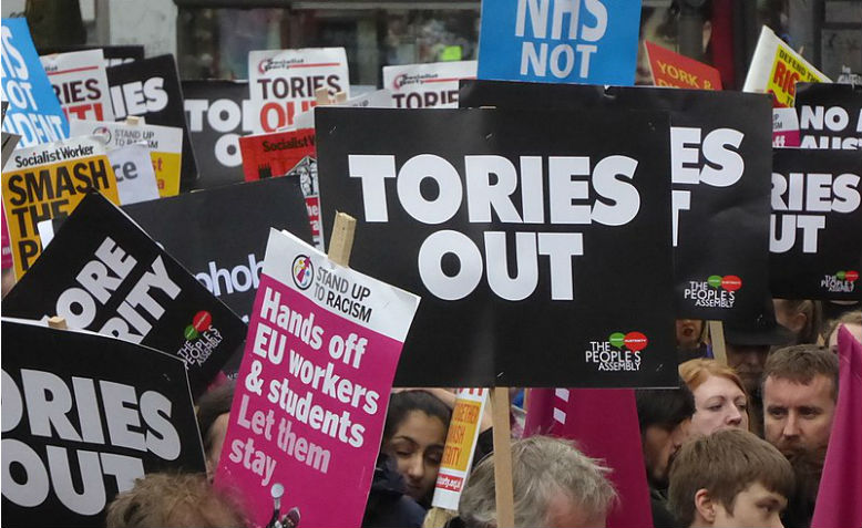 Tories Out placards