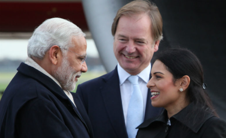 Priti Patel with Indian Prime Minister Narendra Modi. Photo: Wikimedia Commons