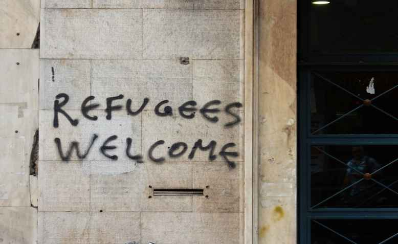 Refugees Welcome, Exarchia, Athens. Photo: aesthetics of crisis