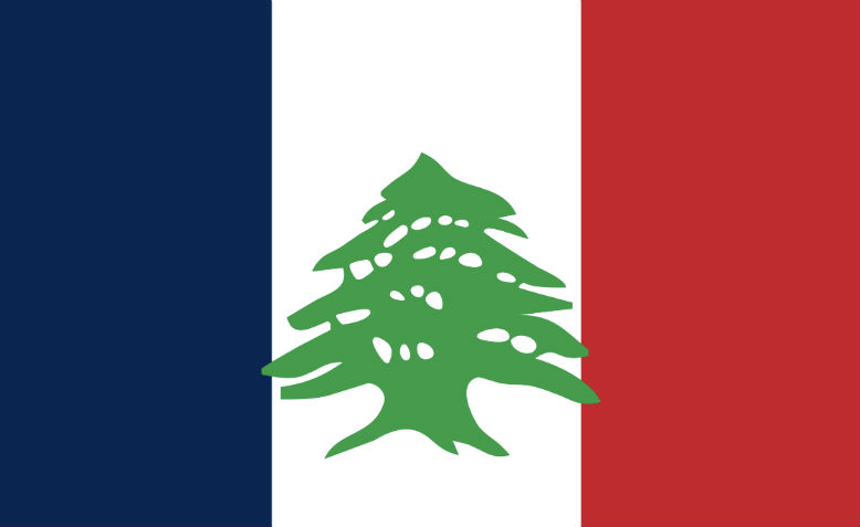 Flag of the state of Greater Lebanon