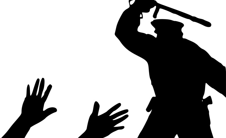 Police brutality. Photo: Open ClipArt / Public Domain