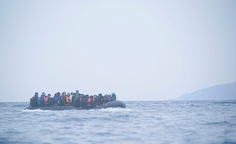 Refugees crossing the Mediterranean, Photo: Mstyslav Chernov / cropped from original / licensed under CC BY-SA 4.0