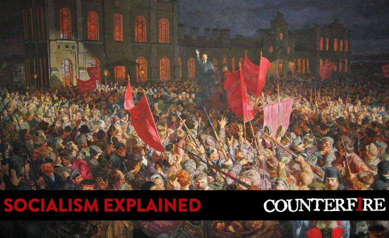 October Revolution, Russia 1917 painting. Photo: Painting Valley / banner added / CC BY-NC 4.0, licence and original photo linked at bottom of article