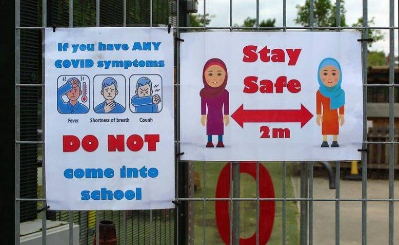 School COVID-19 safety poster in Sheffield. Photo: Flickr - Tim Dennell / cropped from original / licensed under CC 2.0, links at the bottom of article