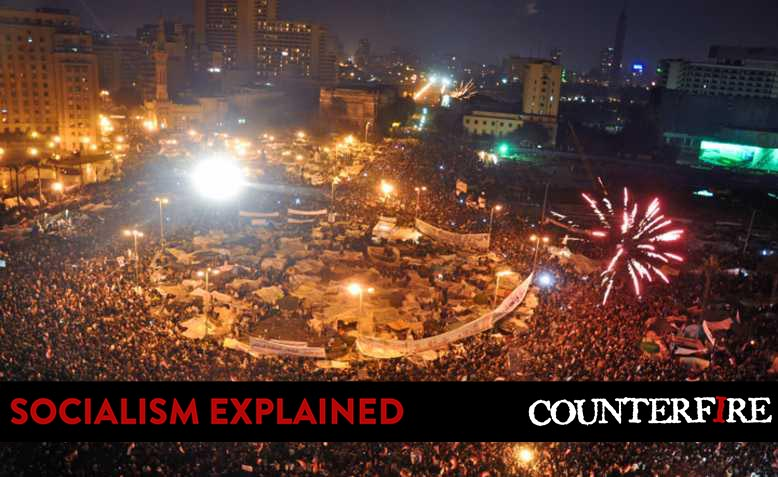 Tahrir Square celebrations after Mubarak's resignation. Photo: Jonathan Rashad / Wikimedia Commons / CC BY 2.0, licence linked at bottom of article