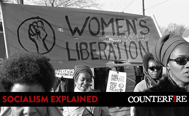Women's liberation movement. Photo: Linda Napikoski / Wikimedia Commons / banner added to original / CC BY-SA 4.0, licence linked at bottom of article