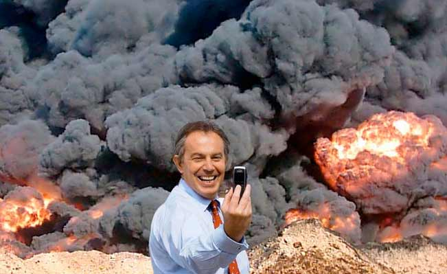 Tony Blair by Peter Kennard and Cat Phillipps