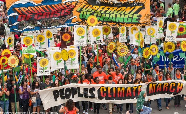 More than 300,000 march in solidarity for Climate accountability, at the People's Climate March on September 21, 2014. Photo: Robert van Waarden