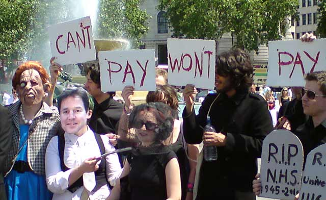 Can't Pay Won't Pay Budget Day protest