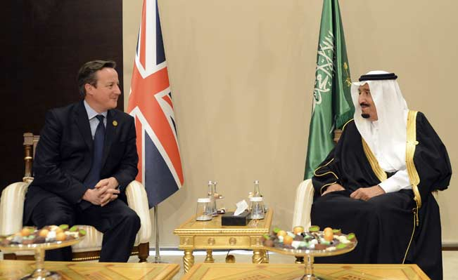 David Cameron and King Salman of Saudi Arabia meet for talks at the G20 Summit in Turkey. Photo: Crown Copyright / Georgina Coupe