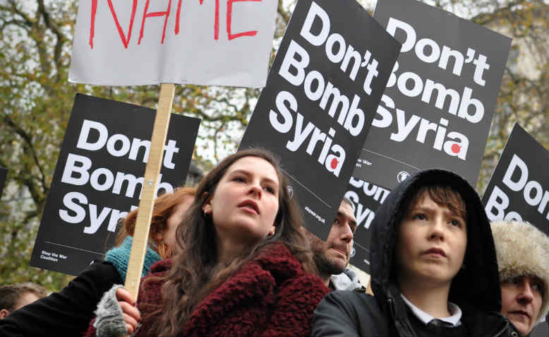 Don't Attack Syria protest, London, November 2015. Photo: Jim Aindow
