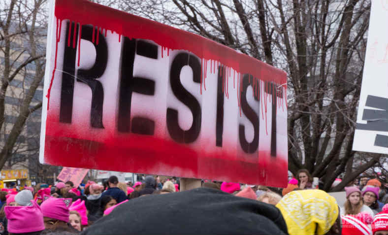Resist Trump Women's March: photo: wikimedia commons