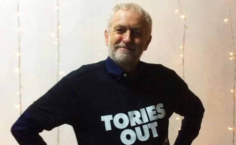 Seasons greetings from Jeremy Corbyn. Photo: The People's Assembly