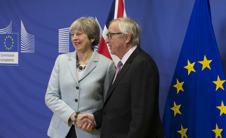 Theresa May and Jean-Claude Juncker in Brussels, 8th December. Photo: Flickr/Number 10