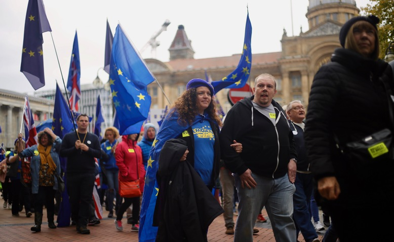 Campaigners march to 'Bin Brexit' in Birmingham