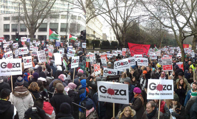 Stop bombing Gaza national demonstration, 10 January 2009. Photo: Flickr/STML
