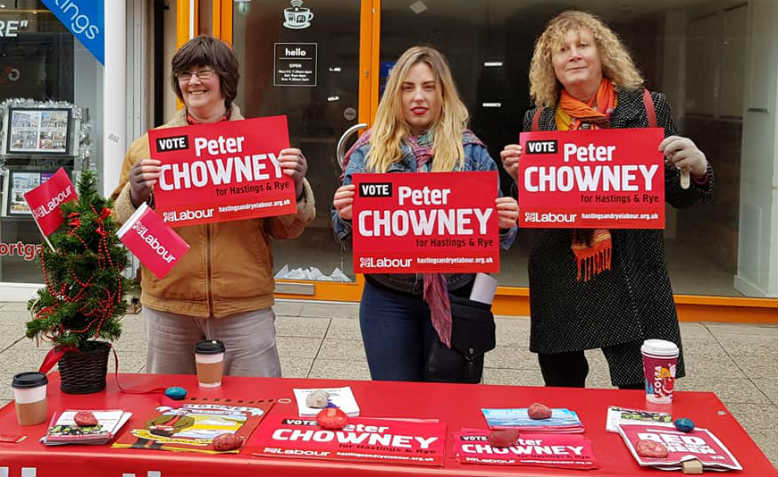 Hastings and Rye Labour stall. Photo: Chrissy Brand
