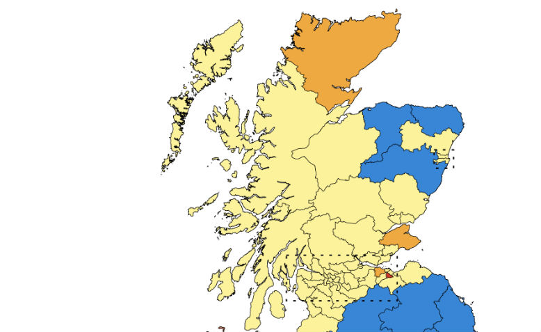 GE result in Scotland