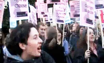 Pro Choice protest February 2008