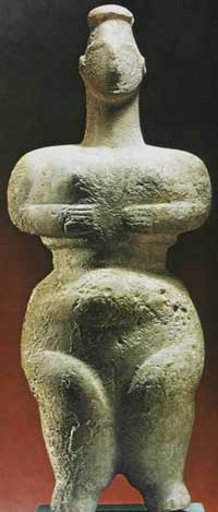 Neolithic    'earth-mother' figurine from Crete