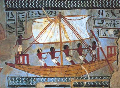 An Ancient Egyptian ship