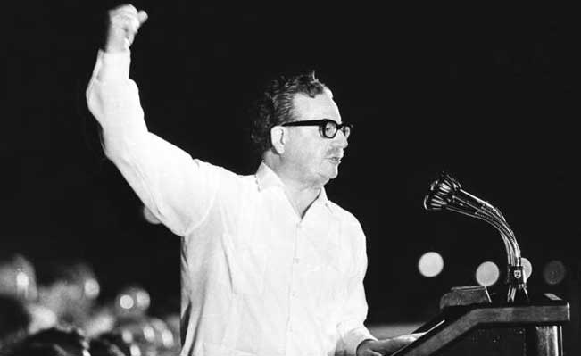 Salvador Allende - the left-reformist Popular Unity president of Chile in 1970-1973
