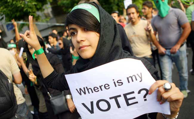 The last presidential elections saw the largest mass Iranian movement since 19789