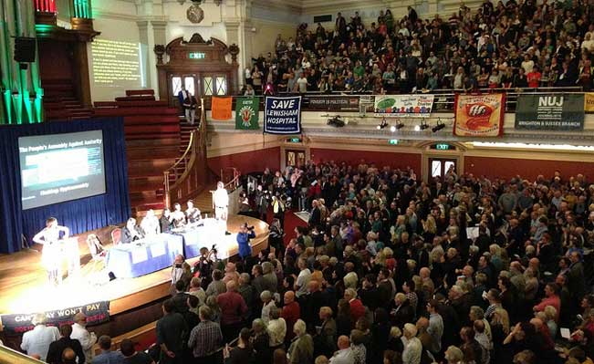 Francis O'Grady addresses opening session of People's Assembly