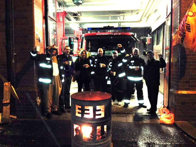 Southwark fire station on strike at Christmas eve