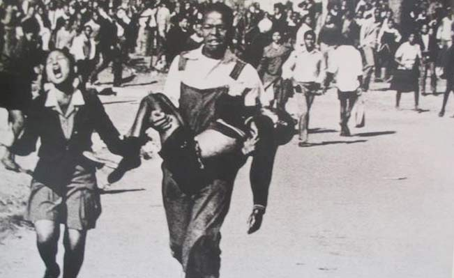 Soweto, June 16, 1976. 12-year-old Hector Pieterson, one of the first killed in the massacre. Photo: Sam Nzima