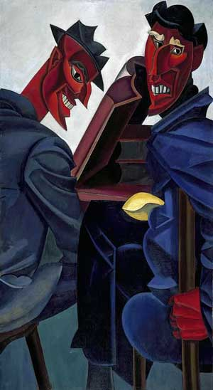 Painting: Reading Ovid (Tyros) by Wyndham Lewis