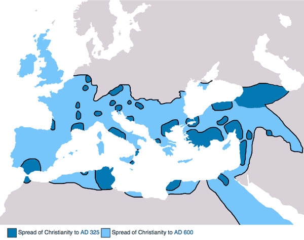 map of 5th Century Christianity