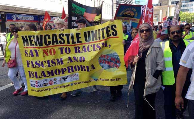 Newcastle against Pegida
