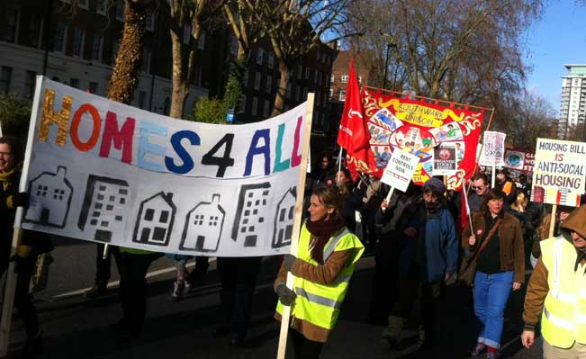 Demonstration against the Housing Bill, Lambeth, January 2016