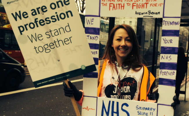 Junior doctor strike 10 February 2016