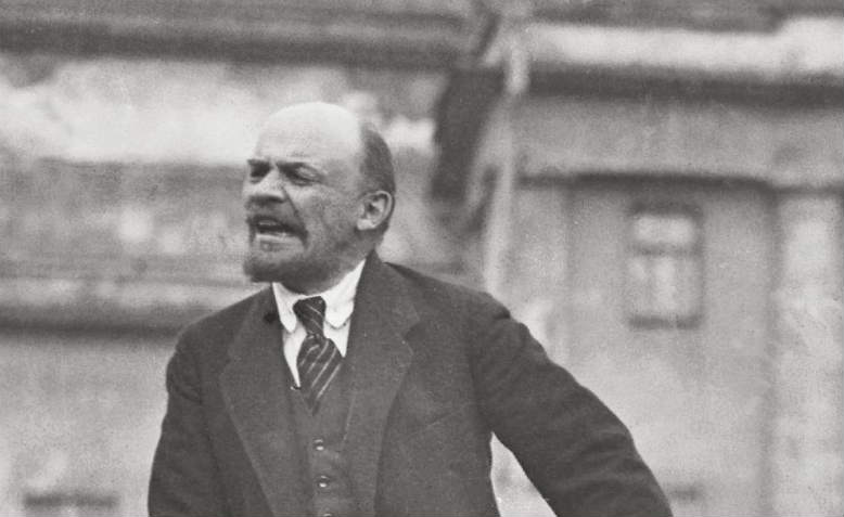 Vladimir Lenin speaking in Moscow,