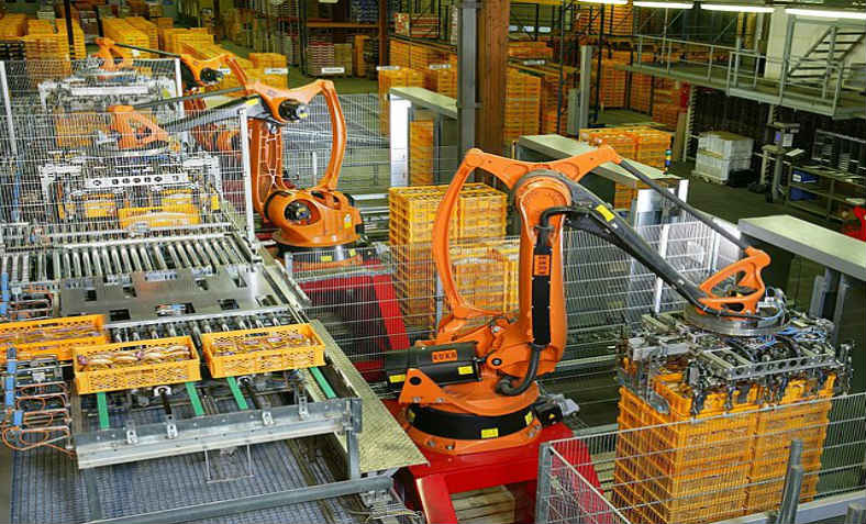 Factory Automation: photo: Wikimedia Commons