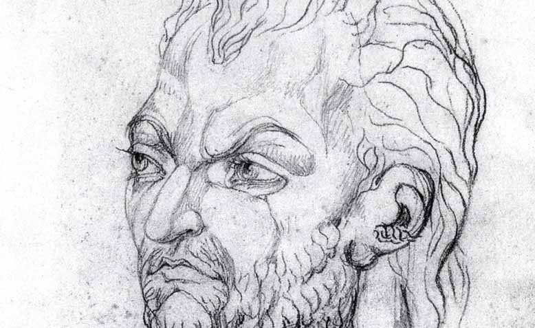 A sketch of Owain Glyndŵr as he appeared to William Blake in a late night vision. Photo: Public Domain
