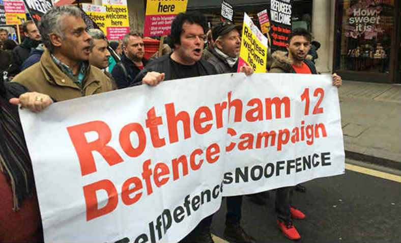 Rotheram Defence Campaign on the anti-racism march in London, 2016