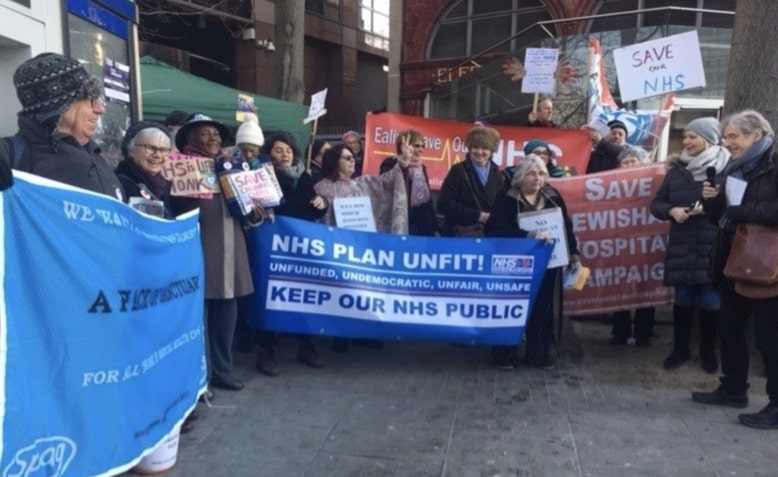 'Save our NHS' demonstrators
