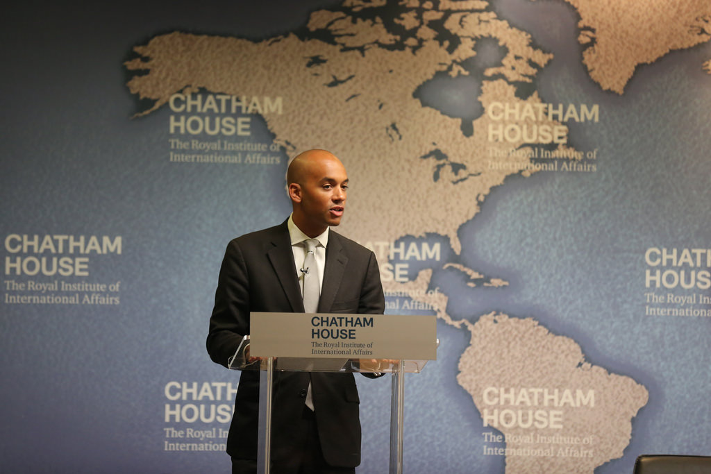 Chuka Umunna speaking at Chatham House, 2011.  Photo: Chatham House