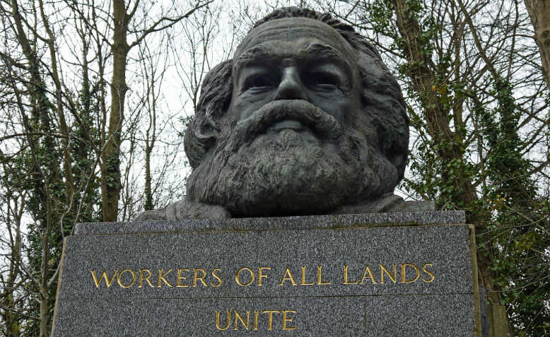 Marx memorial, Highgate cemetary. Photo: Flickr/Dun.can