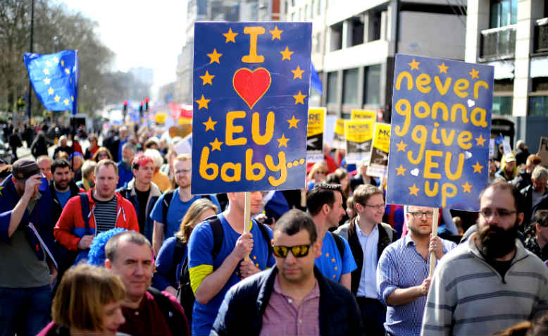 Pro-EU demonstration, London. Photo: Wikimedia Commons