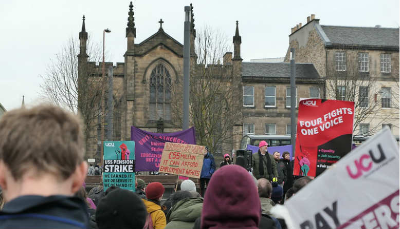 UCU Strike Edinburgh Nov 19. Photo: Flickr - Magnus Hagdorn
