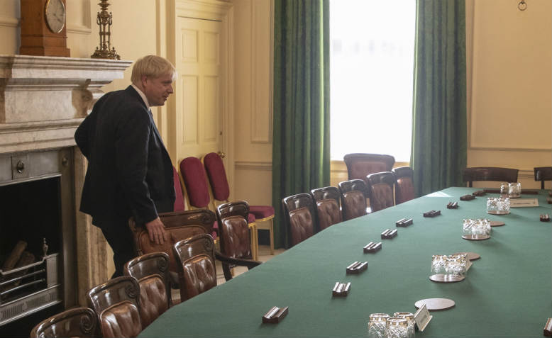 Boris Johnson in the Cabinet Room. Photo: Flickr/Number10