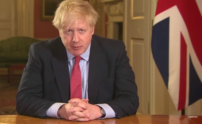 Boris addresses the nation, 23 March 2020. Photo: 10 Downing Street via youtube