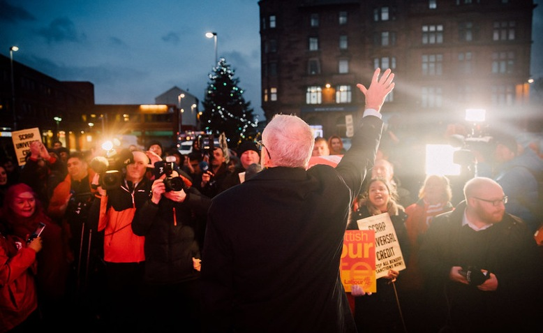 Jeremy Corbyn at a rally in Glasgow, December 11 2019. Photo: Jeremy Corbyn flickr