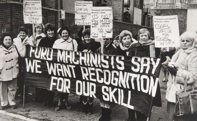 Ford machinist workers on strike in Dagenham, 1968. Photo: Dermot Feenan via flickr