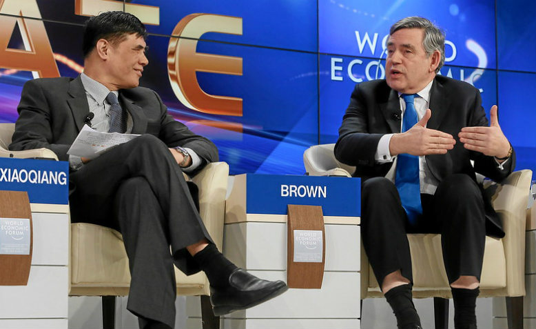 Gordon Brown speaking at the World Economic Forum, January 2013. Photo: World Economic Forum via flickr