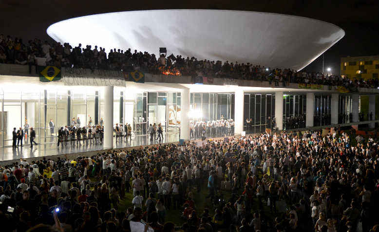 Protest at the National Congress, Brasilia, June 2013. Photo: Wikimedia Commons